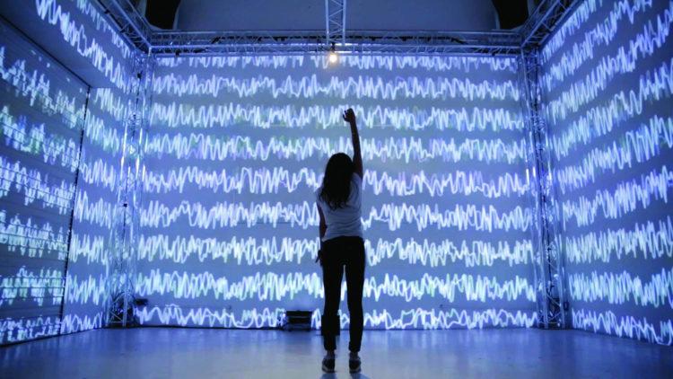 Installation d'art numérique dans le Pôle PIXEL