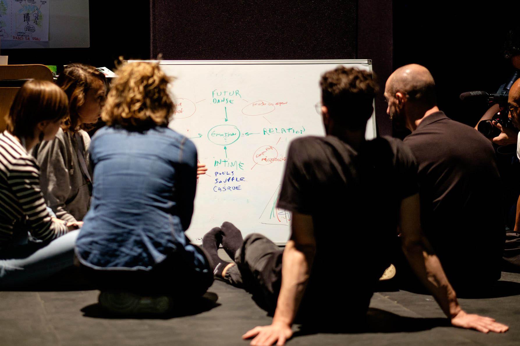 Personnes participant à un brainstorming lors d'un projet au Pôle PIXEL